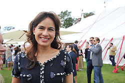 LADY FREDERICK WINDSOR at the Cartier Queen's Cup Polo Final, Guards Polo Club, Windsor Great Park, Berkshire, on 17th June 2012.