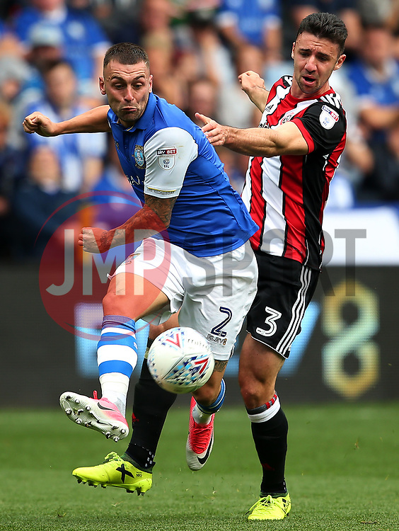 Jack Hunt of Sheffield Wednesday and Enda Stevens of Sheffield United - Mandatory by-line:  Matt McNulty/JMP - 24/09/2017 - FOOTBALL - Hillsborough - Sheffield, England - Sheffield Wednesday v Sheffield United - Sky Bet Championship