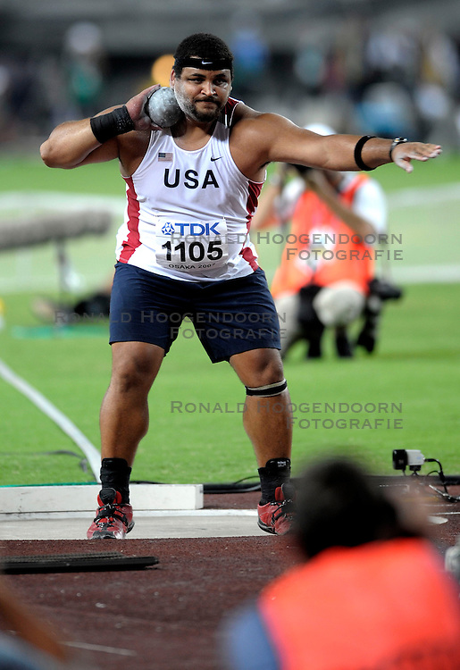 25-08-2007 ATLETIEK:  IAAF WORLD CHAMPIONSHIPS: OSAKA JAPAN<br /> Reese Hoffa (USA) pakt de zilveren medaille<br /> &copy;2007-WWW.FOTOHOOGENDOORN.NL