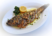 Black Sea Bass served at Kyma in Roslyn, N.Y.