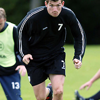 St Johnstone training...12.07.04<br />Sean Webb<br /><br />Picture by Graeme Hart.<br />Copyright Perthshire Picture Agency<br />Tel: 01738 623350  Mobile: 07990 594431