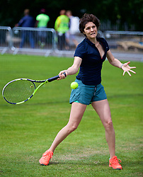 LIVERPOOL, ENGLAND - Friday, June 16, 2017: ProAm during Day Two of the Liverpool Hope University International Tennis Tournament 2017 at the Liverpool Cricket Club. (Pic by David Rawcliffe/Propaganda)