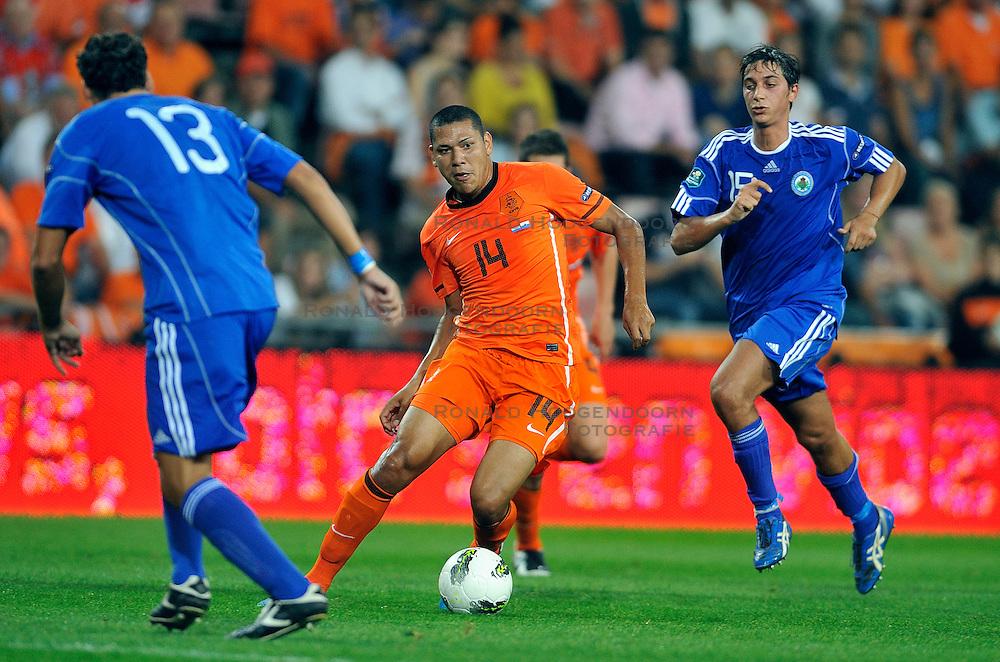 02-09-2011 VOETBAL: NEDERLAND - SAN MARINO: EINDHOVEN<br /> Nederland wint met 11-0 van San Marino / Hedwiges Maduro<br /> &copy;2011-FotoHoogendoorn.nl