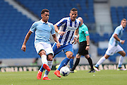 SS Lazio's Ravel Morrison and Brighton & Hove Albion's Tomer Hemed during the Pre-Season Friendly match between Brighton and Hove Albion and SS Lazio at the American Express Community Stadium, Brighton and Hove, England on 31 July 2016.