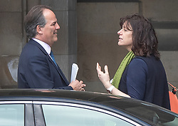 © Licensed to London News Pictures. 25/03/2019. London, UK. Claire Perry, Minister of State at the Department for Business, talks with Mark Field, Minister of State for the Foreign and Commonwealth Office, in  Parliament. Photo credit: Peter Macdiarmid/LNP