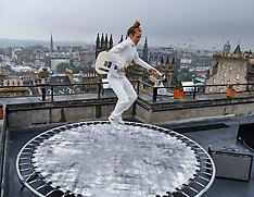 Fringe performers prepare, Edinburgh, 1 August 2019