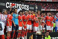 20100509: LISBON, PORTUGAL - SL Benfica vs Rio Ave: Portuguese League 2009/2010, 30th round. In picture:  Benfica Team. PHOTO: Alvaro Isidoro/CITYFILES