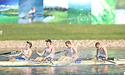 Beijing, CHINA. A Finals, GBR JM4_ right to left,, Jack MORRISSEY, Mathew ROSSITER, George NASH and Kieren EMERY, celebrate after winning the gold medal in the men's four at  the  2007. FISA Junior World Rowing Championships,  Shunyi Water Sports Complex. 11/08/2007[Photo, Peter Spurrier/Intersport-images]..... , Rowing Course, Shun Yi Water Complex, Beijing, CHINA,
