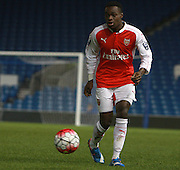 Arsenal defender Marc Bola during the Barclays U21 Premier League match between Brighton U21 and Arsenal U21 at the American Express Community Stadium, Brighton and Hove, England on 30 November 2015. Photo by Bennett Dean.