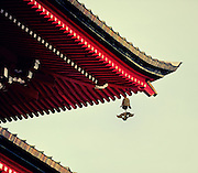 A close-up of the Gojunoto pagoda in Hirosaki Japan.