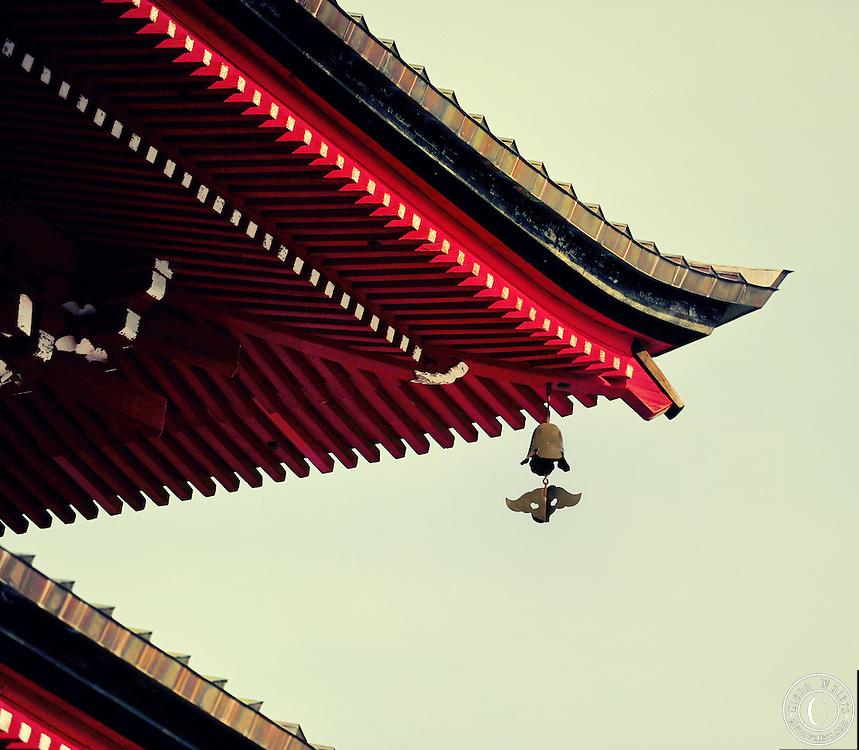 A close-up of the Gojunoto pagoda in Hirosaki Japan.