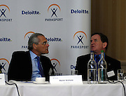 Queens Club, GREAT BRITAIN, top table, left ], Martin SCICLUNA [Deloitte]  and Mike BRACE [BPA], during the  press Conference to announce the joint initiative between British Paralympic Association and Deloitte  of 'www.Parasport.org.uk' online information service, on Thur's.  03.05.2007. London. [Credit: Peter Spurrier/Intersport Images]