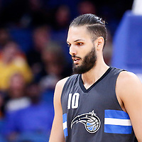 25 February 2017: Orlando Magic guard Evan Fournier (10) is seen during the Orlando Magic 105-86 victory over the Atlanta Hawks, at the Amway Center, Orlando, Florida, USA.