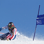 Warner Nickerson, USA, in action during the Men's Giant Slalom competition at Coronet Peak, New Zealand during the Winter Games. Queenstown, New Zealand, 22nd August 2011. Photo Tim Clayton