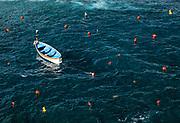Small fishermans dory, Riomaggiore, Cinque Terre,  Liguria, Italy.
