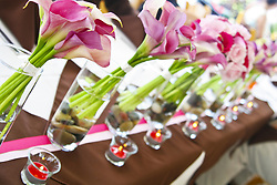 July 21, 2019 - Lilies In Vases Next To Votive Candles (Credit Image: © Colleen Cahill/Design Pics via ZUMA Wire)