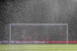 General View of a goal behind a pitch sprinkler - Rogan/JMP - 25/11/2018 - FOOTBALL - Vitality Stadium - Bournemouth, England - Bournemouth v Arsenal - Premier League.