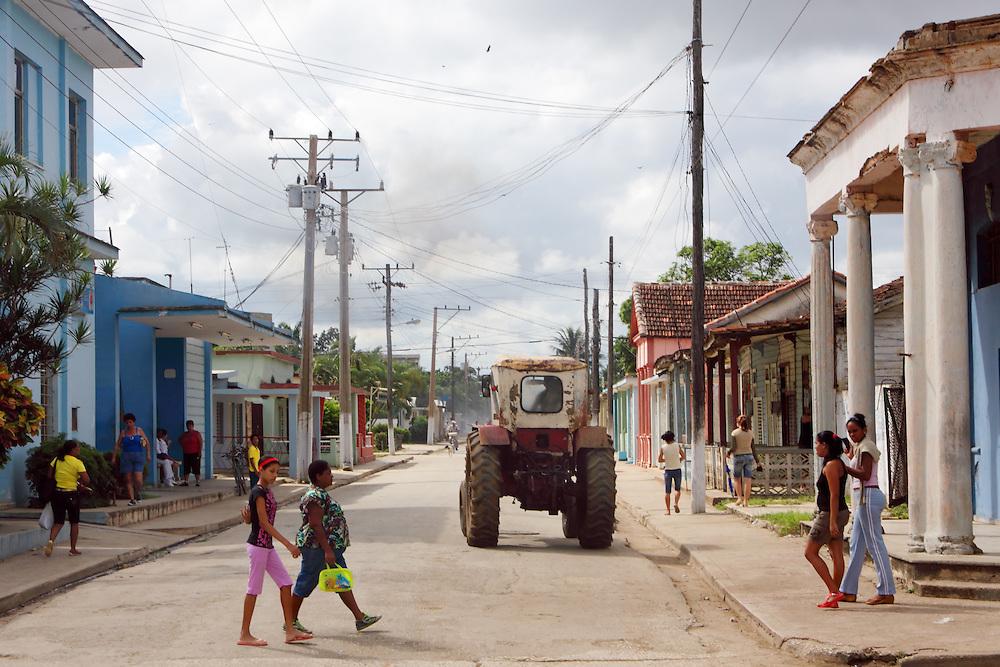 Street in Esmeralda, Camaguey, Cuba.