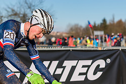 Joshua Dubau (FRA), Men Under 23, Cyclo-cross World Championships Tabor, Czech Republic, 1 February 2015, Photo by Pim Nijland / PelotonPhotos.com