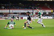 Dundee&rsquo;s Sofien Moussa runs at Buckie Thistle&rsquo;s Lewis MacKinnon - Dundee v Buckie Thistle, Betfred Cup at Dens Park, Dundee, Photo: David Young<br /> <br />  - &copy; David Young - www.davidyoungphoto.co.uk - email: davidyoungphoto@gmail.com