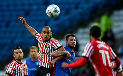James Vaughan of Sunderland heads the ball - Mandatory by-line: Robbie Stephenson/JMP - 16/08/2017 - FOOTBALL - Hillsborough - Sheffield, England - Sheffield Wednesday v Sunderland - Sky Bet Championship