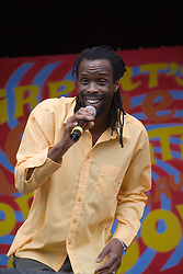 T & Latouche on stage at  the Cropredy Festival  Fairport's Cropredy Convention  2005