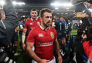 Greig Laidlaw - Lions scrum half walks off the field dejected following defeat to the Auckland Blues.<br /> Auckland Blues v British & Irish Lions, Eden Park, Auckland, New Zealand, Wednesday 7th June 2017<br /> Copyright photo: David Gibson / www.photosport.nz