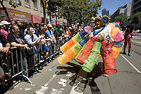 SAN FRANCISCO, CA - JUNE 24 : A man takes part in the 37th annual LBGT Pride Parade on June 24, 2007 in San Francisco, California. Hundreds of thousands of people lined the streets of San Francisco to watch and take part in the parade.  (Photograph by David Paul Morris)