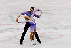 February 15, 2018 - Gangneung, South Korea - Germany's figure skaters ALJONA SAVCHENKO, 34, and BRUNO MASSOT, 29, broke their own world record to claim  the Pairs Figure Skating Free Skating Gold Medal at the PyeongChang 2018 Winter Olympic Games at Gangneung Ice Arena on Thursday morning.<br />