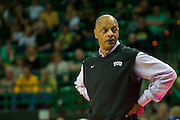 WACO, TX - JANUARY 11: TCU Horned Frogs head coach Trent Johnson looks on against the Baylor Bears on January 11, 2014 at the Ferrell Center in Waco, Texas.  (Photo by Cooper Neill/Getty Images) *** Local Caption *** Trent Johnson