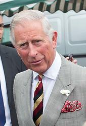 Image ©Licensed to i-Images Picture Agency. 08/07/2014. Somerset, United Kingdom. Prince Charles visits Glastonbury Abbey, Somerset. Picture by i-Images