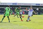 Forest Green Rovers Liam Noble(15) crosses the ball into the box during the Vanarama National League Play Off second leg match between Forest Green Rovers and Dagenham and Redbridge at the New Lawn, Forest Green, United Kingdom on 7 May 2017. Photo by Shane Healey.