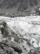 Closeup view of Fox Glacier/Te Moeka o Tuawe, Westland/Tai Poutini National Park, New Zealand