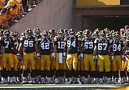 September 4 2010: The Iowa Hawkeyes prepare to take the field before the NCAA football game between the Eastern Illinois Panthers and the Iowa Hawkeyes at Kinnick Stadium in Iowa City, Iowa on Saturday September 4, 2010. Iowa defeated Eastern Illinois 37-7.