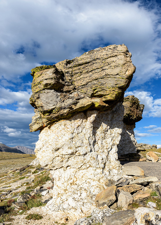 Rock formation on the tundra at Rocky Mountain National Park in Colorado