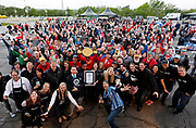 Kansas City Corporate Event and Marketing Photographer-<br /> 336 participants celebrate Smithfield setting the Guinness World Records title for the Largest grilling lesson on Thursday, April 27, 2017, in Kansas City, Mo. Colin E. Braley for Smithfield