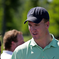 2009 April 22: Peyton Manning quarterback of the NFL's Indianapolis Colts visits with fans during the PGA Tour, Zurich Classic of New Orleans Classic Pro-Am played at TPC Louisiana in Avondale, Louisiana.