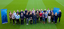NEWPORT, WALES - Wednesday, April 25, 2018: Delegates pose for a group photograph during a UEFA Certificate in Football Management - Wales Edition at Dragon Park. (Pic by David Rawcliffe/Propaganda)