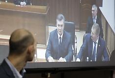 Kiev: Ukrainian former president Yanukovych testifies via videolink in Euromaidan court case, 25 Nov