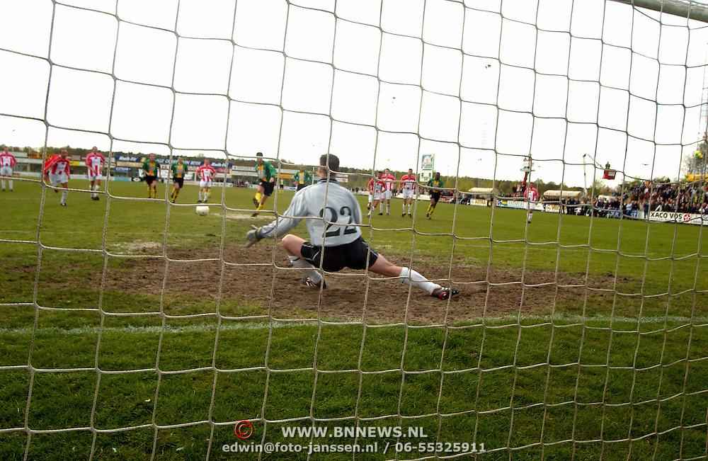 SV Huizen - Bennekom, SV Huizen kampioen hoofdklasse B zaterdagamateurs, penalty, strafschop
