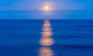Moonlight over the Atlantic Ocean, Montauk, NY
