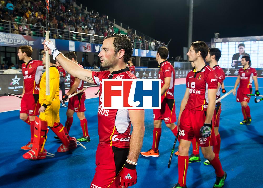 BHUBANESWAR - Sebastien Dockier (Bel)  Hockey World League finals , wedstrijd om de 5e plaats. Belgie-Spanje.  COPYRIGHT KOEN SUYK