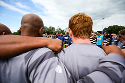 Bristol Rugby Head Coach Pat Lam speaks in the post match huddle after the game - Rogan/JMP - 05/08/2017 - RUGBY UNION - Cleve RFC - Bristol, England - Bristol Rugby v Harlequins - Pre-Season Friendly.