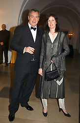 MR GIUSEPPE CIARDI and LADY HENRIETTA SPENCER-CHURCHILL at a private dinner to unveil the Van Cleef & Arpels jewellery collection 'Couture' with fashion by Anouska Hempel Couture held at The Banqueting House, Whitehall Palace, London on 8th March 2005.<br />