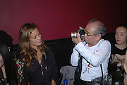 Jade Jagger, Nobuyoshi Araki  and Komari. Party given for Nobuyoshi Araki by White Cube after the opening of his Self«Life«Death exhibition at the Barbican. Zyrus/Genesys Karaoke bar. Clerkenwell Rd. London. 5 October 2005. . ONE TIME USE ONLY - DO NOT ARCHIVE © Copyright Photograph by Dafydd Jones 66 Stockwell Park Rd. London SW9 0DA Tel 020 7733 0108 www.dafjones.com