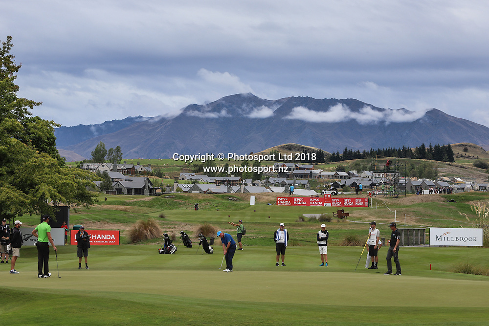 General view on Day 1 of the 2018 ISPS Handa New Zealand Golf Open. Millbrook golf course, Arrowtown, New Zealand. Thursday 1 March 2018. © Copyright Photo: Richard Greenfield / www.photosport.nz