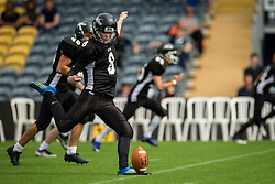 Kent Exiles kick off in the second half - Mandatory by-line: Jason Brown/JMP - 27/08/2016 - AMERICAN FOOTBALL - Sixways Stadium - Worcester, England - Kent Exiles v East Kilbride Pirates - BAFA Britbowl Finals Day
