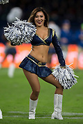 Los Angeles Rams Cheerleaders during the International Series match between Arizona Cardinals and Los Angeles Rams at Twickenham, Richmond, United Kingdom on 22 October 2017. Photo by Jason Brown.