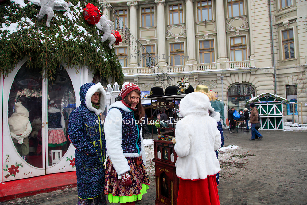 Bucharest, Romania merry go round in a fairground