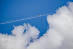 08.09.2018, Lienz, AUT, 31. Red Bull Dolomitenmann 2018, im Bild Feature Paragleiten // Feature paragliding during the 31th Red Bull Dolomitenmann. Lienz, Austria on 2018/09/08, EXPA Pictures © 2018, PhotoCredit: EXPA/ JFK